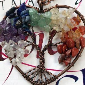 Jewelry - Handmade 💛🧡❤️Beautiful Gemstone Tree of Life🌳🦋